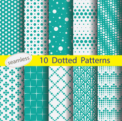 dotted pattern unit collection for making seamless background