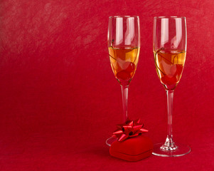 Two valentines goblets