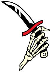hand bone hold a dagger
