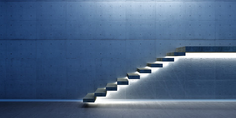 Interior scene with stair Fototapete