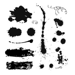 Collection of ink splash. EPS 8 + jpg