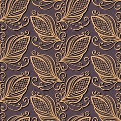 Seamless Ornate Floral Pattern (Vector)