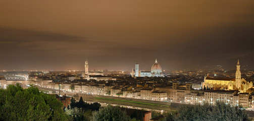 Fototapete - Palazzio Vecchio Dom Panorama Florenz Italien