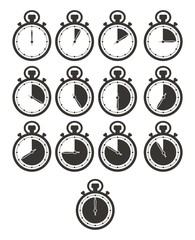 timer icon sets - stop watch