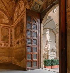 Wall Mural - Palazzio Vecchio Florenz Italien mit Herkules