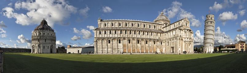 Fototapete - Pisa Italien Florenz Piazza dei Miracoli Panorama