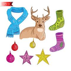Merry Christmas Element Deer