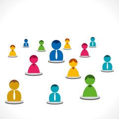 people group discussion background vector