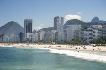 Copacabana Beach Rio de Janeiro Brazil Skyline