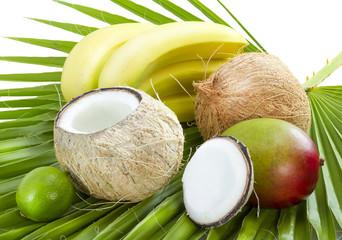 Tropical fruits.