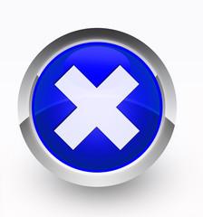 Knopf blau Kreuz