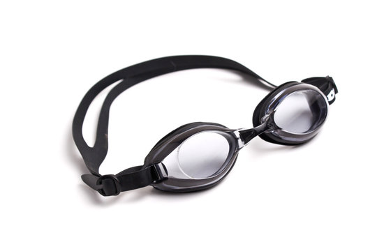 swim goggles isolated on white