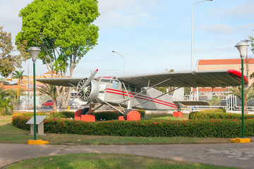 Jimmie Angel aircraft in front of Ciudad Bolivar airport