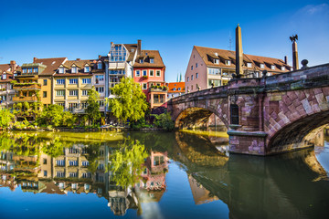 Nuremberg, Germany Old City at Pegnitz River Wall mural