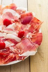 Real pork ham from Italy Bologna