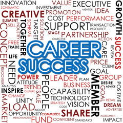 Career success word cloud