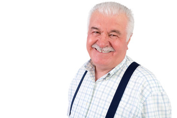 Smiling jovial senior man