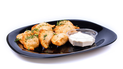 Meat dumplings with sauce