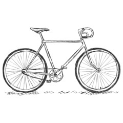 vector sketch illustration - bicycle