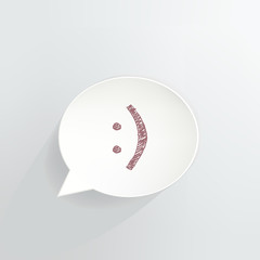 Smiley Speech Bubble Sign