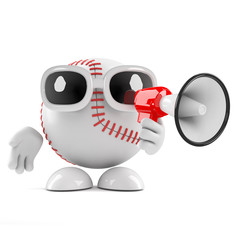 Baseball has a loudhailer