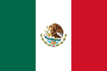 Canvas Prints Mexico Mexico Flag