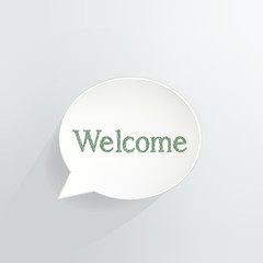 Welcome Speech Bubble Sign