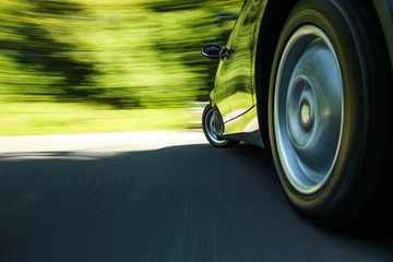 Fototapete - Car in turn.