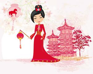 geisha celebrated Chinese New Year