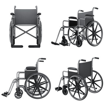 wheelchair icons isolated on white background