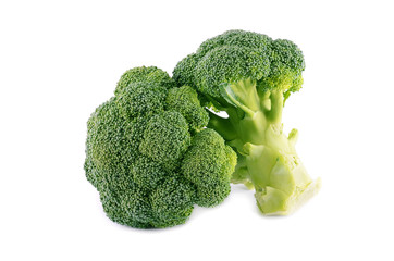 Healthy brocoli isolated on a white background