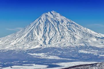 Volcanoes of Kamchatka Peninsula, Russia.