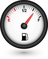Car fuel gauge, vector illustration