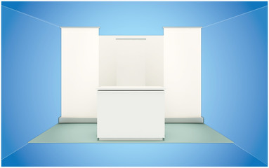 3d blank booth design