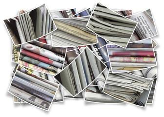 journaux, concept multiples facettes de l'actualité