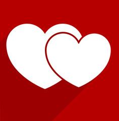 valentine heart flat