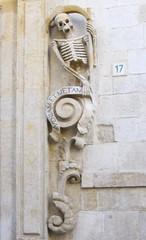 Decoration wall church Santa Maria Suffrage Purgatory - Bitonto