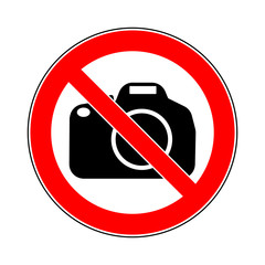 german - verbotsschild - fotografieren verboten / english - prohibition sign - camera or video equipment is prohibited