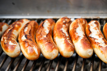 Photo sur Plexiglas Grill, Barbecue Bratwurst, Grillwürstchen