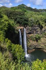 Wailua Falls Hawaiian Waterfall