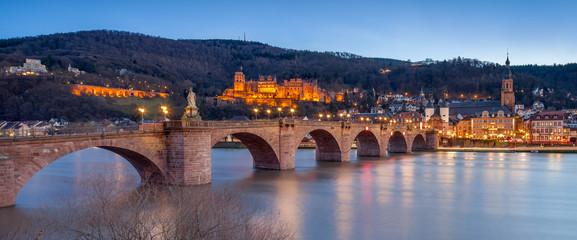 Fotomurales - Heidelberg Nachtaufnahme