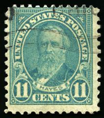 Vintage US Postage Stamp of President Hayes