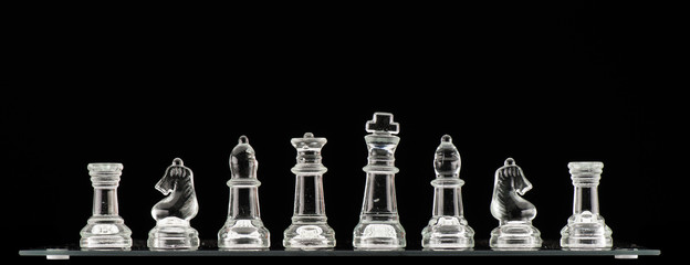 Clear Glass Chess Pieces