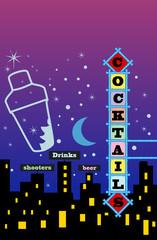 Cocktail menu / advertisement design, free copy space