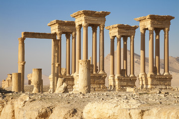 Ancient tetrapylon Palmyra