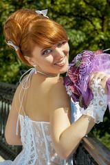 Portrait  redhead charming Bride