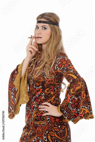 Femme mode hippie photo libre de droits sur la banque d 39 images image 59786740 - Mode hippie femme annee 70 ...