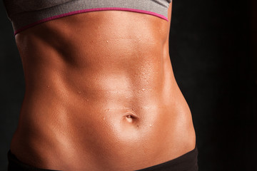 A fit attractive woman's stomach