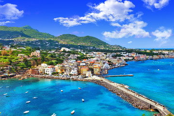 beautiful Ischia isalnd - view from castel. Italy Fototapete