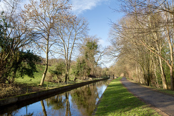 Canal near pentre, wrexham in North Wales